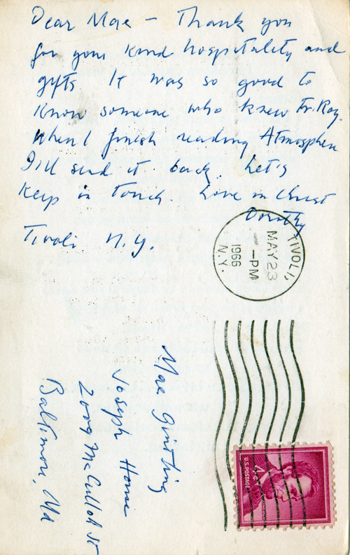 Back of postcard.