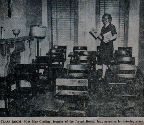 The classroom in question. From an article in the Baltimore Evening Sun, May 17, 1966.