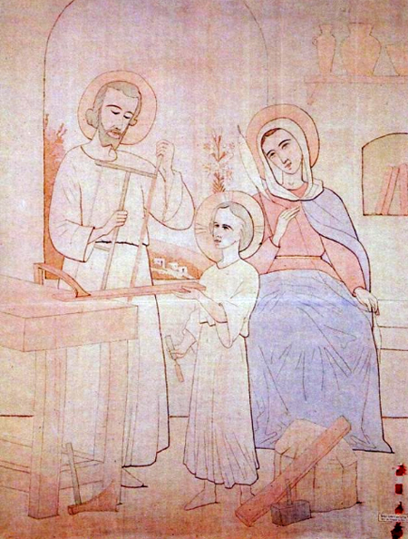 An image of the Holy Family in Nazareth by Br. Charles.